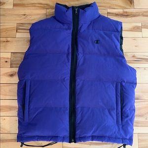 Vintage Champion Purple Down Vest